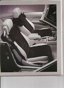 Bmw Convertible e46 factory Sheepskin Inserts 1 Pair gray Only