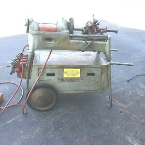 Rigid 535 Pipe Threader With Rolling Stand