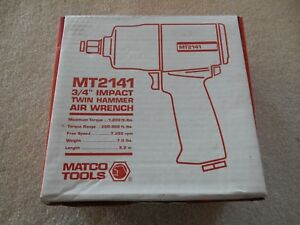 Matco 3 4 Impact Twin Hammer Air Wrench Mt2141