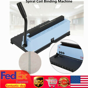 Spiral Coil Calendar Binding 34 Hole Punching Binding Machine Solid Handle New