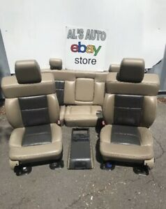 04 08 Ford F150 Crew Cab Limited Seats Tan Brown 2 Tone Power Heated Oem