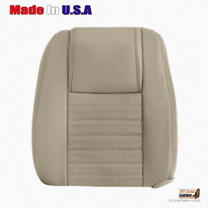 Front Top Tan Perforated Leather Cover For 2005 2006 2007 2008 2009 Ford Mustang
