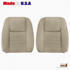 Driver Passenger Tops Tan Perforated Leather Cover 2005 To 2009 Ford Mustang