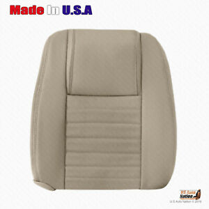 For 2005 2009 Ford Mustang Passenger Top Perforated Leather Cover Parchment Tan