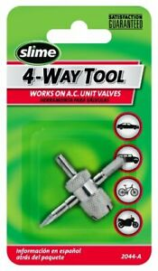 Slime 4 Way Tool Remove Tire Valve Stem Core Tool 2044 A Car Truck Ac