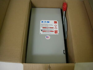 Eaton Dh362ugk 60a 3p 600v Gd Non fusible Safety Switch new