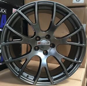 20 Stagger Rims Gunmetal Wheels Hellcat Style Fit Challenger Charger 300c