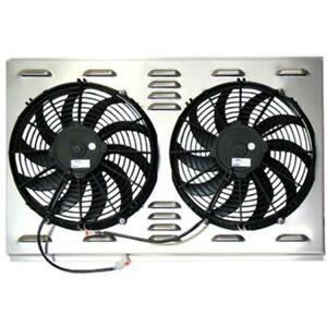 Speedway 9174004 Dual 12 Inch Electric Fan Shroud Combo Kit 28 W X 17 H