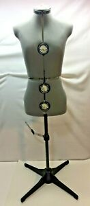 Seamstress Mannequin Torso Adjustable Size Tailors Dressmaking Dress Form