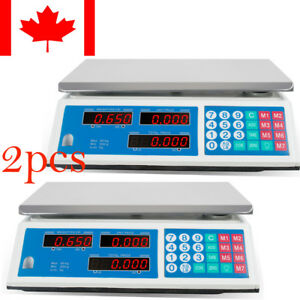 2 Computing Scale Electronic Price Digital Food Meat Deli 66 Lbs Weight 110v Ca