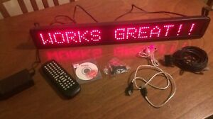Red Led Programmable Display Sign With Remote Control