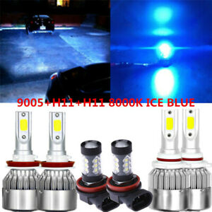 6x Cob Led Headlight fog Light For Chevrolet Equinox 10 2018 8000k Ice Blue Bulb