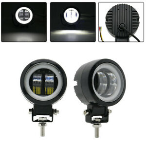 3 Inch 20w Motorcycle Car White Halo Led Spot Work Lights Driving Fog Lamp Pod