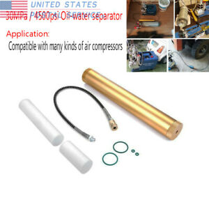 Oil Water Separator Filter 30mpa High Pressure Pcp Air Compressor Barrel Golden