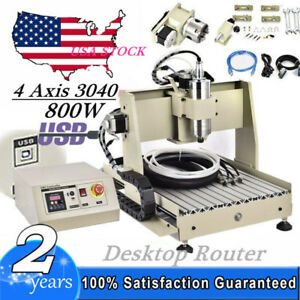 Cnc 3040 Router Milling Engraving Machine 4axis 800w Usb Cnc Cutting Machine