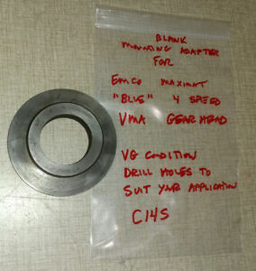 Emco Maximat V10 p Lathe blue Vertical Milling Attachment Mounting Flange C14s