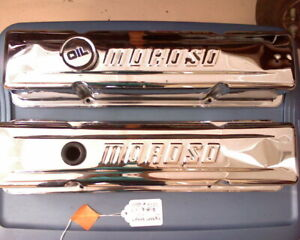Moroso Valve Covers Pair Small Block Chevy 1960 S And 70 S