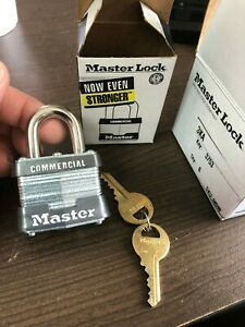 6 New Master Lock Padlocks 3ka Keyed Alike Sku 68590