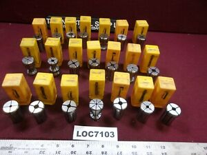 New Lot Of 21 Kennametal Da180 Collets Double Angle Loc7103