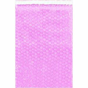 12 X 11 1 2 Pink Anti static Bubble Out Bags pack Of 100