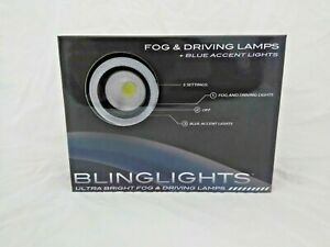 Blinglights 3 5 Blue Or White Halo Angel Eye Led Fog Lights Kit
