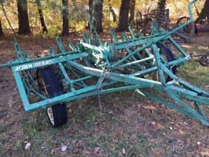 John Deere Cc Field Cultivator Antique Tractor Plowing Machinery