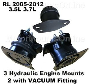 9r3520 3hydraulic Motor Mounts Fit 2005 2006 2007 2008 2012 Acura Rl V6 Engine