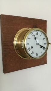 Beautiful Vintage Antique Ships Clock Schatz Royal Mariner Key Parts Or Repair