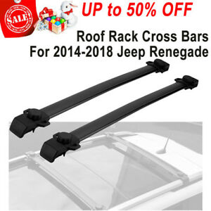 Car Top Roof Cross Bar Luggage Cargo Carrier Rack For 2014 2018 Jeep Renegade