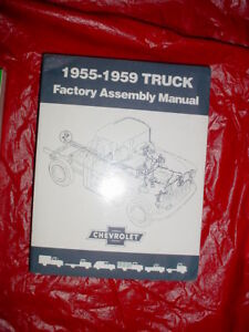 1955 1956 1957 1958 1959 Chevy Truck Assembly Manual