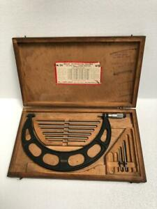 Starrett No 224 Outside Micrometer 6 12 Capacity free Shipping