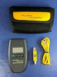 Fluke Microscanner Pro Very Good Cable Id Soft Case
