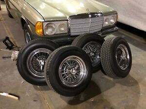 Rare Set Of 14 Mercedes Wire Wheels And Tires 380sl 450sl 560sl