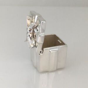 Tiffany Co Sterling Silver Miniature Trinket Gift Box Jewelry Container