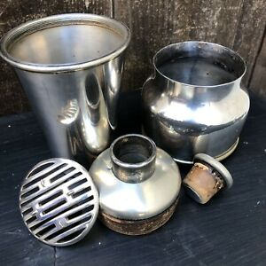 Vintage Meriden S P Co Silver Plate Co 5 Piece Travel Cocktail Shaker Mixer