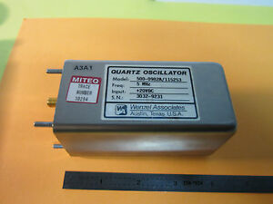 Wenzel 5 Mhz Low Phase Noise Quartz Oscillator Frequency Standard Bin 24