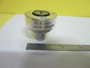 Microscope Part Sopelem Vickers Infinity Objective Optics As Is Bin t7 36