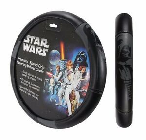 Star Wars Darth Vader Comfort Grip Auto Steering Wheel Cover Accessory Cars Suv
