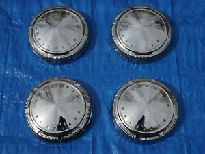 Set 1969 1970 Cuda Road Runner Gtx Plymouth Division Stainless Dog Dish Hubcaps