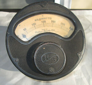 Large Antique Roller smith Co Kilowatts Meter Industrial Steampunk