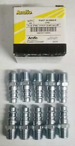 Qty 10 Amflo Hvlp High Flow Style Steel Air Fitting Plug 1 4 Male Npt Cp91