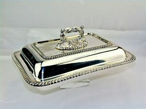 Thomas Bradbury Sons Sheffield Silver Covered Entree Dish Buffet Serving Bowl