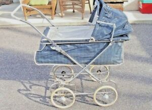 Vintage Baby Pram Carriage Buggy Full Size Project Item Pick Up Long Island Ny