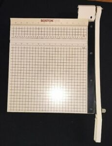 Boston Model 2615 Heavy Duty 15 Inch Paper Cutter Guillotine Style Home Off