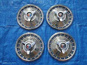 Set Of 1963 Ford Galaxie 500 Spinner Wheelcovers Hubcaps