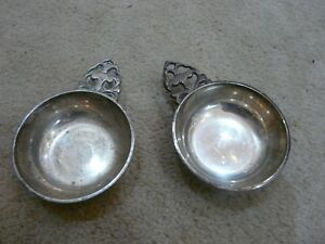 Silver Dish Vintage Jewelry Candy Set Of Two Collectible 2 3 4 Inch Diameter