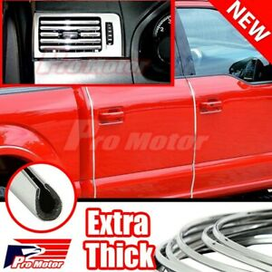 200 Chrome Silver Car Door Edge Rim Guard Molding Trim Protector Strip Diy 16ft
