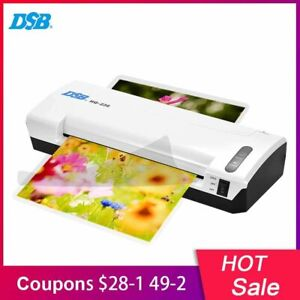 A4 Photo Laminator Hot Cold Fast Speed Film Laminating Paper Trimmer Cutter Free