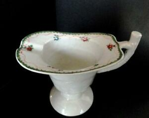 18th C Antique Chinese Export Porcelain Helmet Pitcher Jug With Flowers