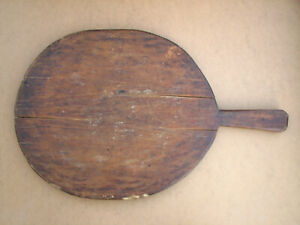 Antique Wooden Wood Bread Cutting Board Dough Plate Trencher Rustic Early 20th